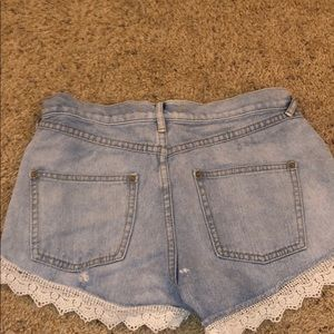 Free People Shorts - Free People FP Lace Shorts — size 27